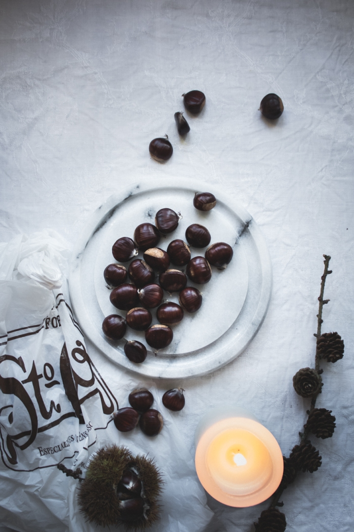 Vegan chestnut Nutella cream